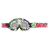 O'neal B10 Stream Goggle Clear Nero Verde
