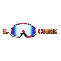 O Neal B-10 Stream Goggle White Lens Blue