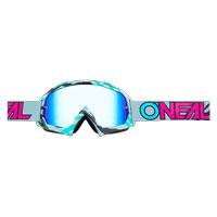 O'neal B10 Stream Goggle Radium Grigio Blu