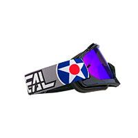 O Neal B-10 Warhawk Goggle Black Lens Blue