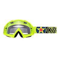 O Neal B-10 Warhawk Goggle Yellow Lens Clear