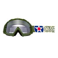O Neal B-10 Warhawk Goggle Green Lens Clear