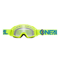 Oneal B20 Flat Goggles Clear Blu Giallo