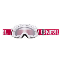 Oneal B20 Flat Goggles Clear Rosso Bianco