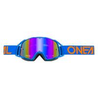 Oneal B20 Flat Goggles Radium Blu Arancio