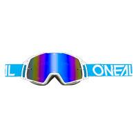Oneal B20 Flat Goggles Radium Blu Bianco