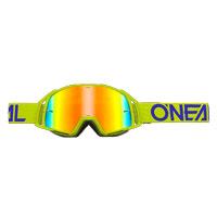 Oneal B20 Flat Goggles Radium Blu Giallo