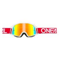 Oneal B20 Flat Goggles Radium Rosso Bianco