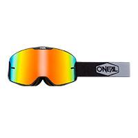 O Neal B-20 Plain Goggle Black Lens Red