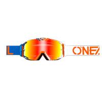 Oneal B30 Duplex Goggles Blu Bianco Arancio