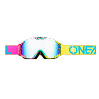 Oneal B30 Duplex Goggles Pink Blue Yellow