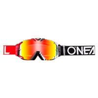 Oneal B30 Duplex Goggles Nero Rosso Bianco