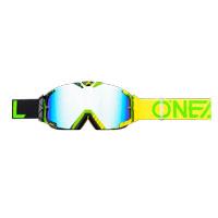 Oneal B30 Duplex Goggles Nero Giallo Verde