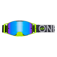 O Neal B-30 Bold Goggle Grey Yellow Lens Blue