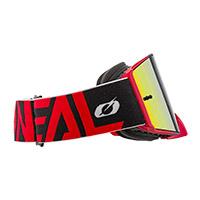 Maschera O Neal B-30 Bold Rosso Lente Rosso