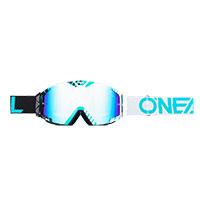 O Neal B-30 Duplex Goggle White Teal Lens Blue