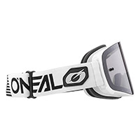 O Neal B-50 Force Goggle White Lens Silver