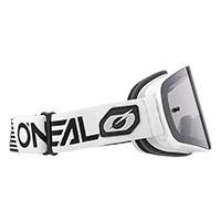 Maschera O Neal B-50 Force Bianco Lente Argento