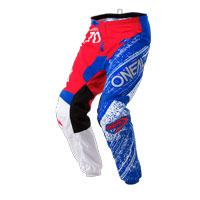 O'neal Pantaloni Element Burnout Rosso Bianco Blu