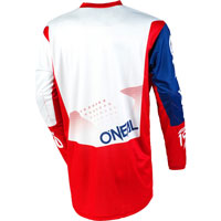 O'neal Element Factor Jersey White Blue Red