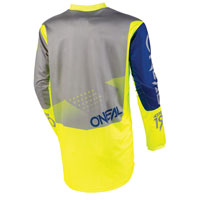 O\'neal Element Factor Jersey Grey Blue Yellow
