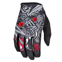 O'neal Mayhem Macduff Signature Gloves Gray Red