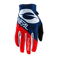 O Neal Matrix Stacked Gloves Blue Red