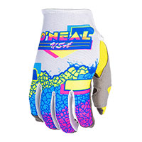 Guantes O Neal Mayhem Crackle 91 amarillo blanco