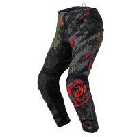 Pantaloni O Neal Element Ride Nero Rosso Verde