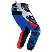 Oneal Pantaloni Element Shocker Nero Blu Rosso