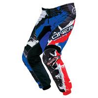 Oneal Pantaloni Element Shocker Nero Blu Rosso