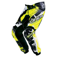 Oneal Pantaloni Element Shocker Nero Giallo