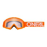 O Neal B-10 Youth Goggle Orange Lens Clear Kinder