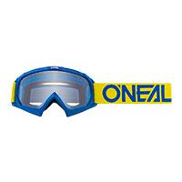 O Neal B-10 Youth Goggle Blue Lens Clear Kid