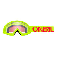 O Neal B-10 Youth Goggle Yellow Lens Clear Kinder