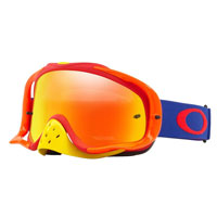 Oakley Crowbar Blue Red Lente Fire Iridium & Clear