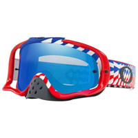 Oakley Crowbar Braking Bumps Rwb Lente Ice Iridium & Clear