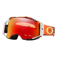 Oakley Airbrake Mx Prizm™ Tld Megaburst Orange Navy - Lente Torch