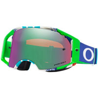 Oakley Airbrake Mx Prizm™ Pinned Race Blue Green - Lente Jade