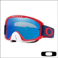 Oakley O2 Mx Red Navy Lente Clear & Black Ice Iridium