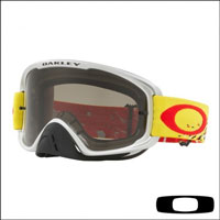 Oakley O2 Mx Checked Finish Yellow Red - Lente Dark Grey