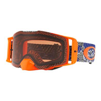 Oakley Front Line Mx Dazzle Dyno Blue Orange - Lente Prizm™ Bronze