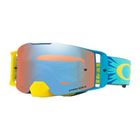 Oakley Front Line Mx High Voltage Blue Yellow  Lente Prizm™ Sapphire