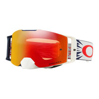 Oakley Front Line Mx High Voltage Red Navy  Lente Prizm™ Torch