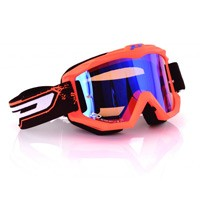 Progrip 3204fl Mx Goggles Shiny Side Multilayered Mirrored Orange Fluo