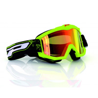 Progrip 3204fl Mx Goggles Shiny Side Multilayered Mirrored Yellow Fluo