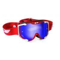 Progrip 3404 Mx Goggles Menace Multilayer gespiegelt blau