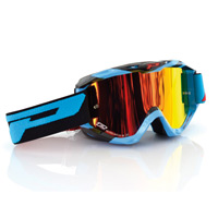 Progrip 3450fl Mx Goggles Riot Mirrored Light Blue