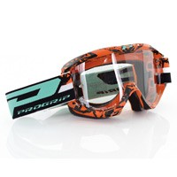 Progrip 3450ls Mx Goggles Riot Light Sensitive Orange Black
