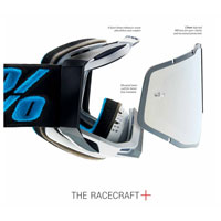 Maschera Motocross 100% Racecraft Plus Illumina